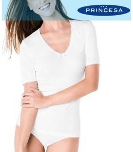 Camiseta Termal Clásica Manga Corta Princesa