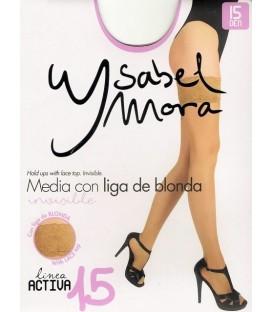 Media con liga Ysabel Mora