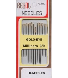 Blíster 16 agujas para coser Regal