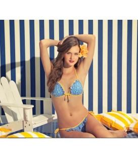 Bañador azul de flores de Gisela