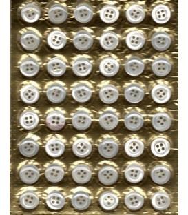 Botones nacar blíster 48 unidades