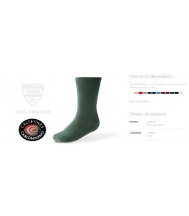 Calcetines lisos Carlomagno pack 2 pares