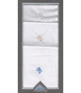 Pack 3 pañuelos inicial bordada para caballero Egipcios
