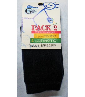 Calcetines cálidos lisos Pack 2 unidades