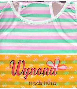Conjunto camiseta + tanga + bikini Wynona